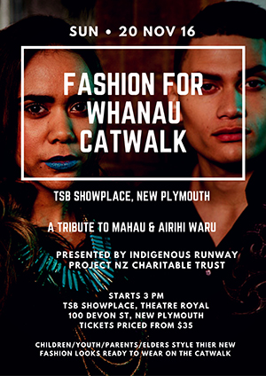 Fashion whanau catwalk flyer