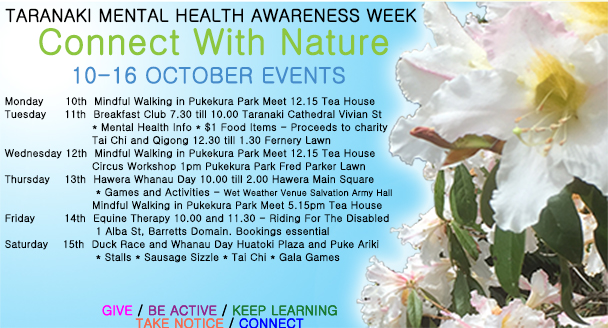 Mental Health Awareness Week Taranaki services join forces